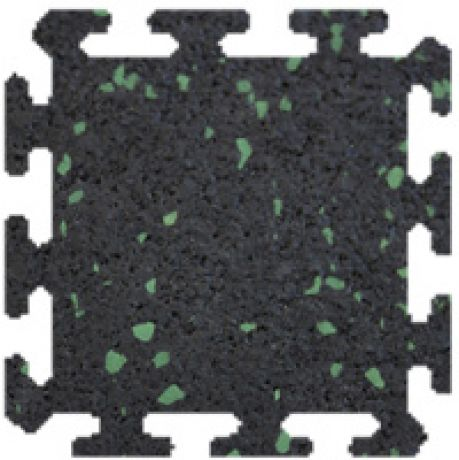 Rubber, 126 Black with Green fleck, Interlocking tiles 10mm thick
