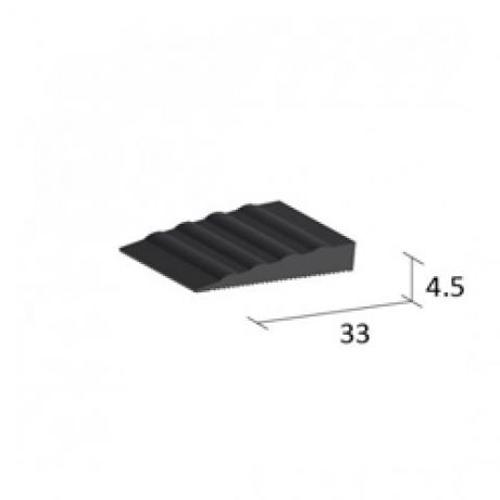 T450R Fexible Transition Black strip 4.5mm x 33mm
