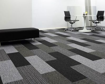 AA* Commercial carpet tiles in planks